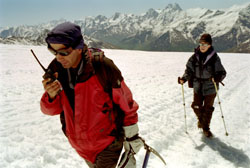 Maura Reinolds and her guide Soltan on the mt.Elbrus ascent