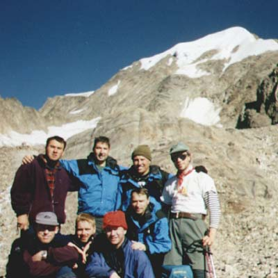 British Army Himalayan expedition members and WR after peak Paldor climb.
